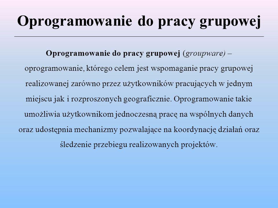 Oprogramowanie do pracy grupowej