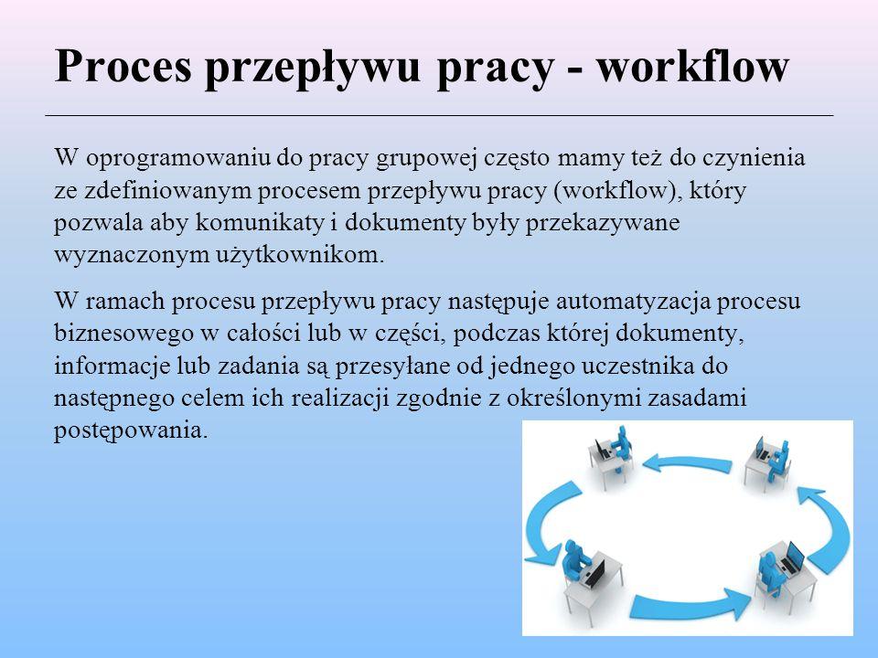 Proces przepływu pracy - workflow