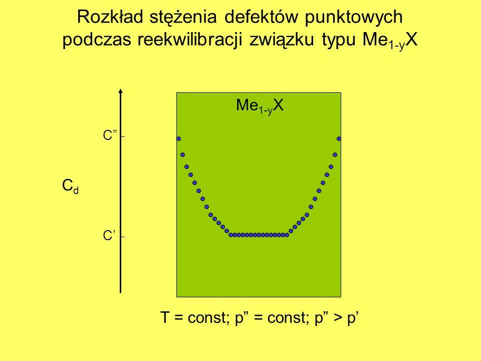 Rozkład stężenia defektów punktowych