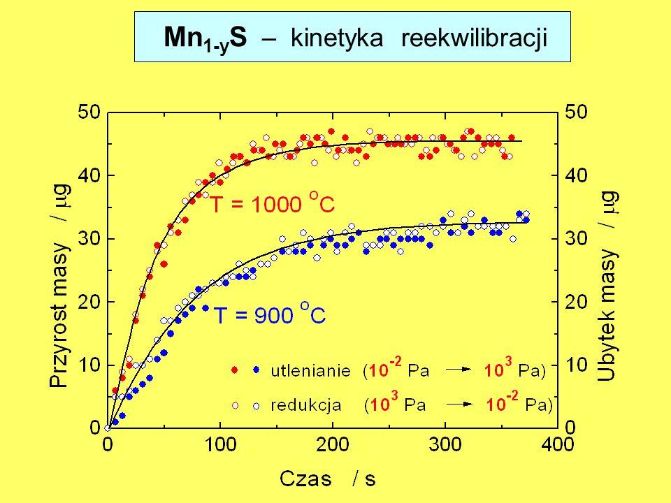 Mn1-yS – kinetyka reekwilibracji