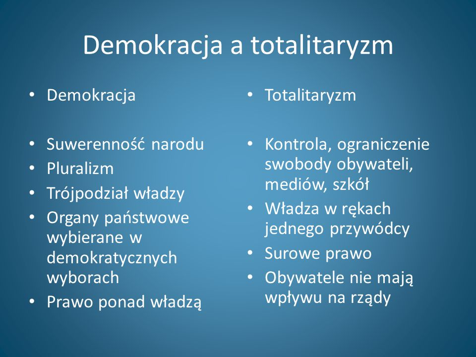 Demokracja a totalitaryzm