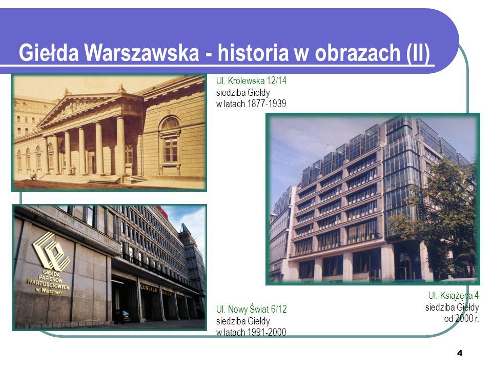 Giełda Warszawska - historia w obrazach (II)