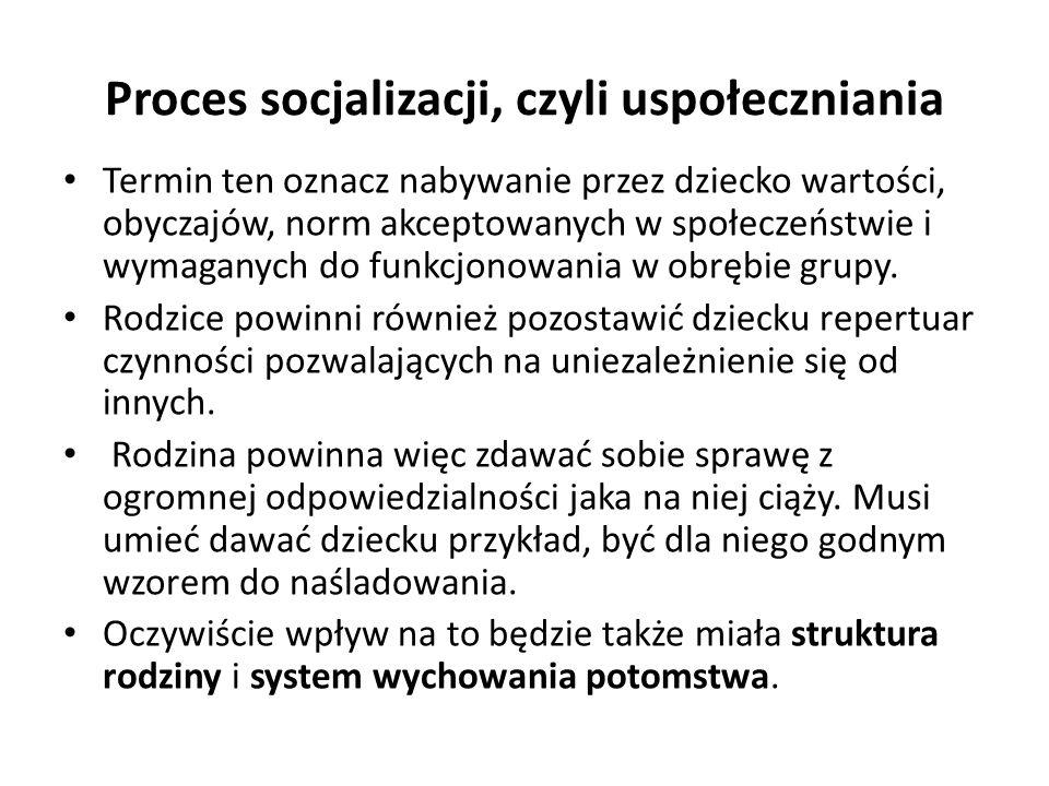 Proces socjalizacji, czyli uspołeczniania