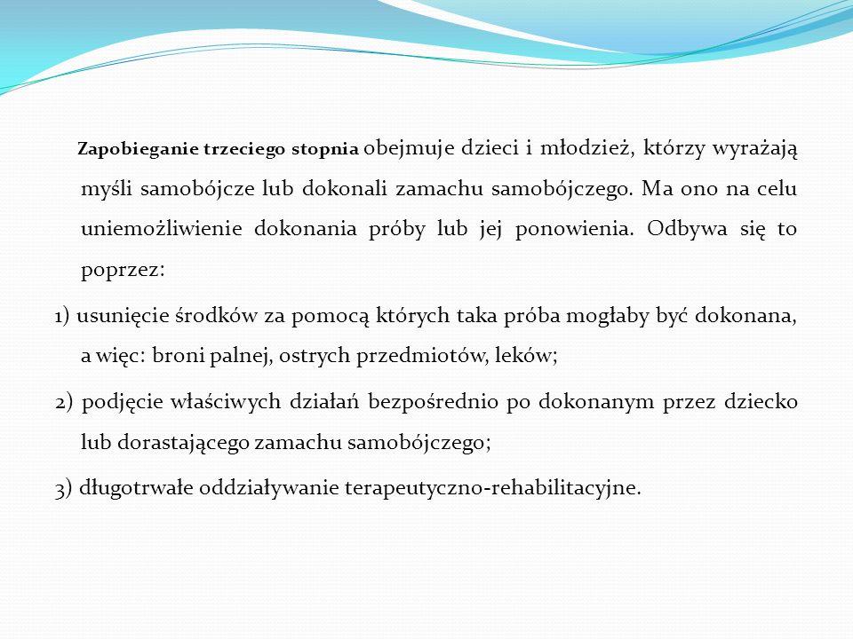 3) długotrwałe oddziaływanie terapeutyczno-rehabilitacyjne.
