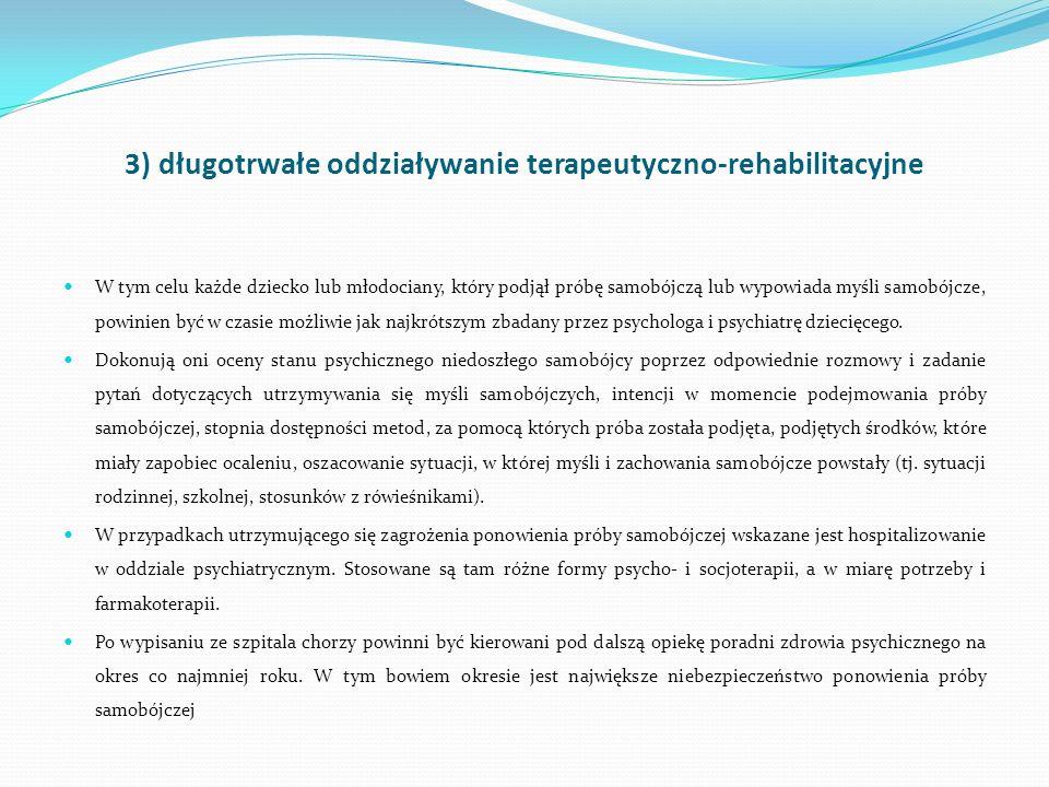 3) długotrwałe oddziaływanie terapeutyczno-rehabilitacyjne