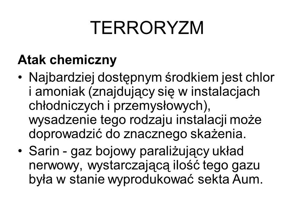 TERRORYZM Atak chemiczny