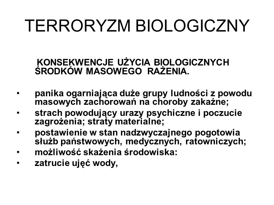 TERRORYZM BIOLOGICZNY