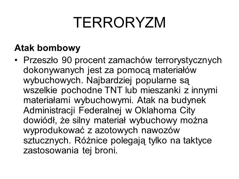 TERRORYZM Atak bombowy