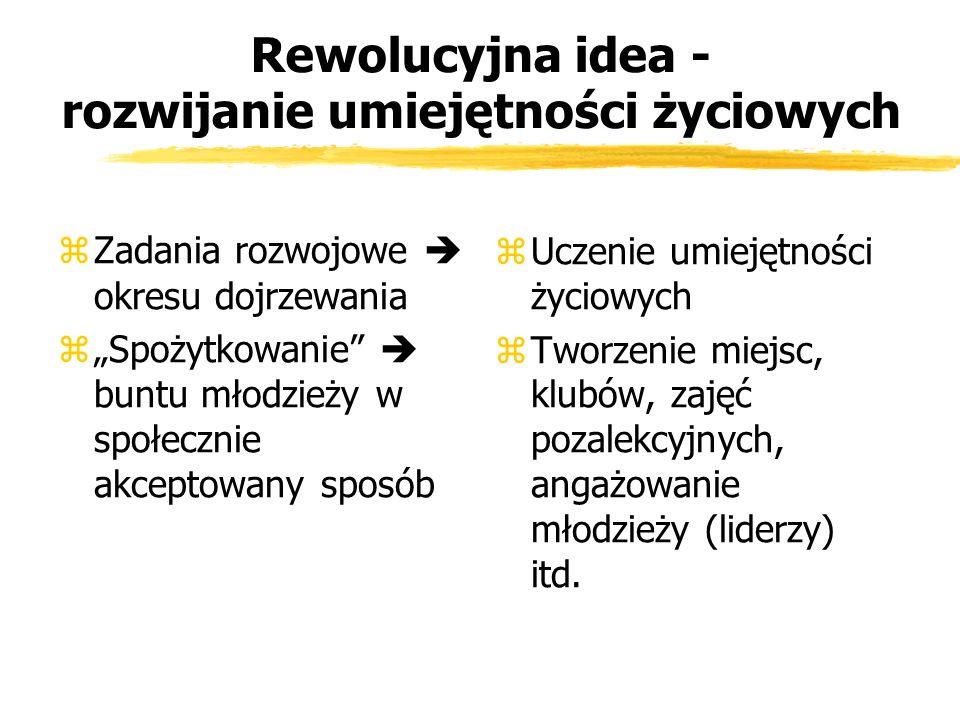 Rewolucyjna idea - rozwijanie umiejętności życiowych