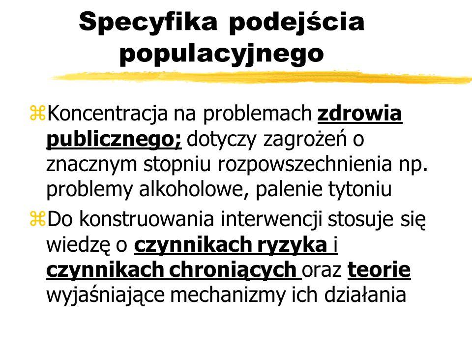 Specyfika podejścia populacyjnego