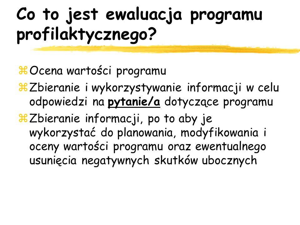 Co to jest ewaluacja programu profilaktycznego