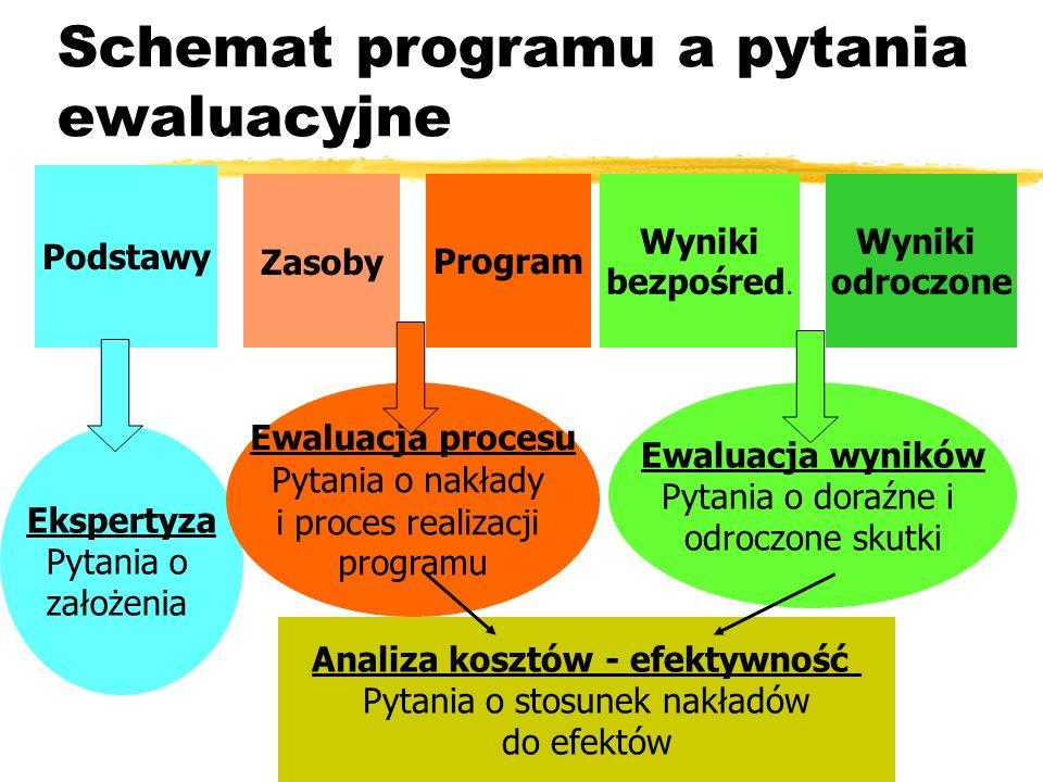 Schemat programu a pytania ewaluacyjne