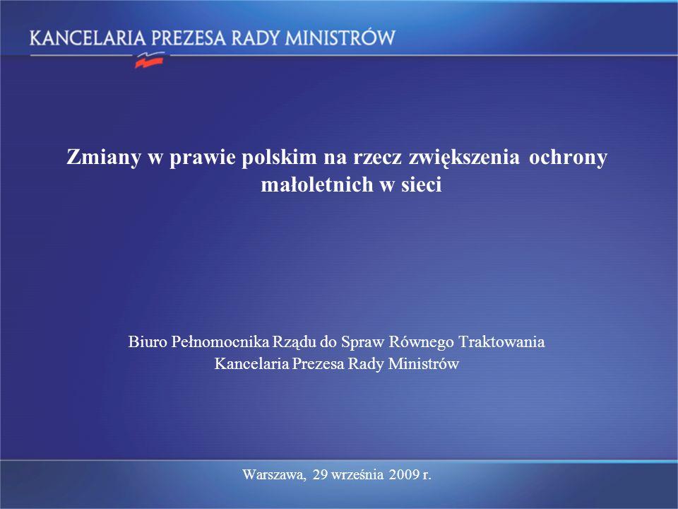 Zmiany w prawie polskim na rzecz zwiększenia ochrony małoletnich w sieci
