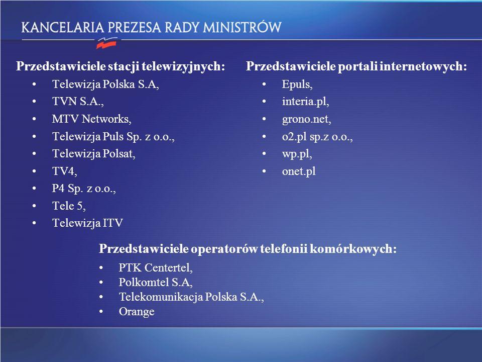 Przedstawiciele stacji telewizyjnych: