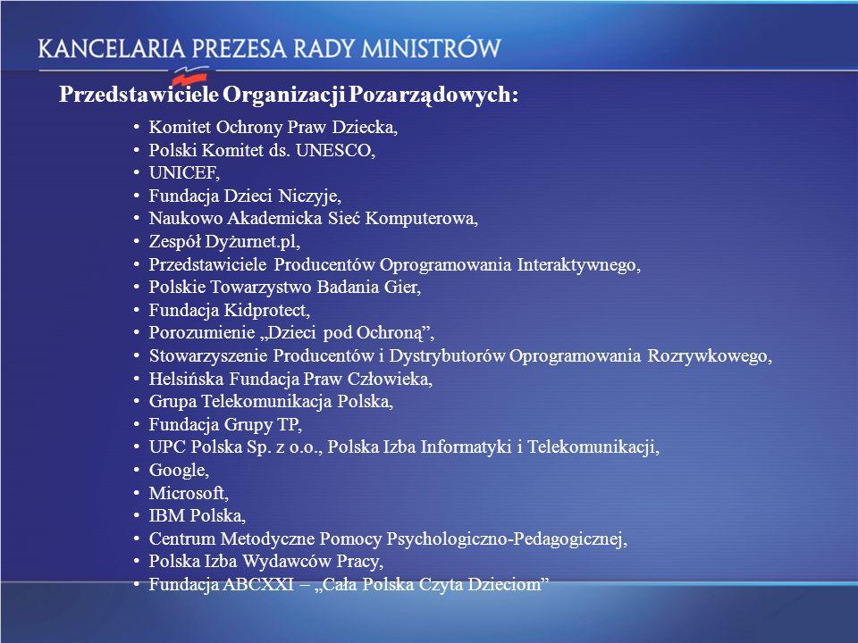 Przedstawiciele Organizacji Pozarządowych: