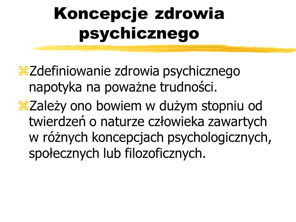 Koncepcje zdrowia psychicznego