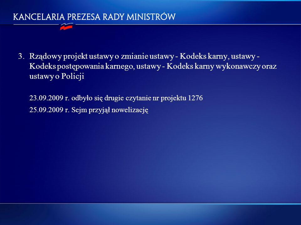 25.09.2009 r. Sejm przyjął nowelizację