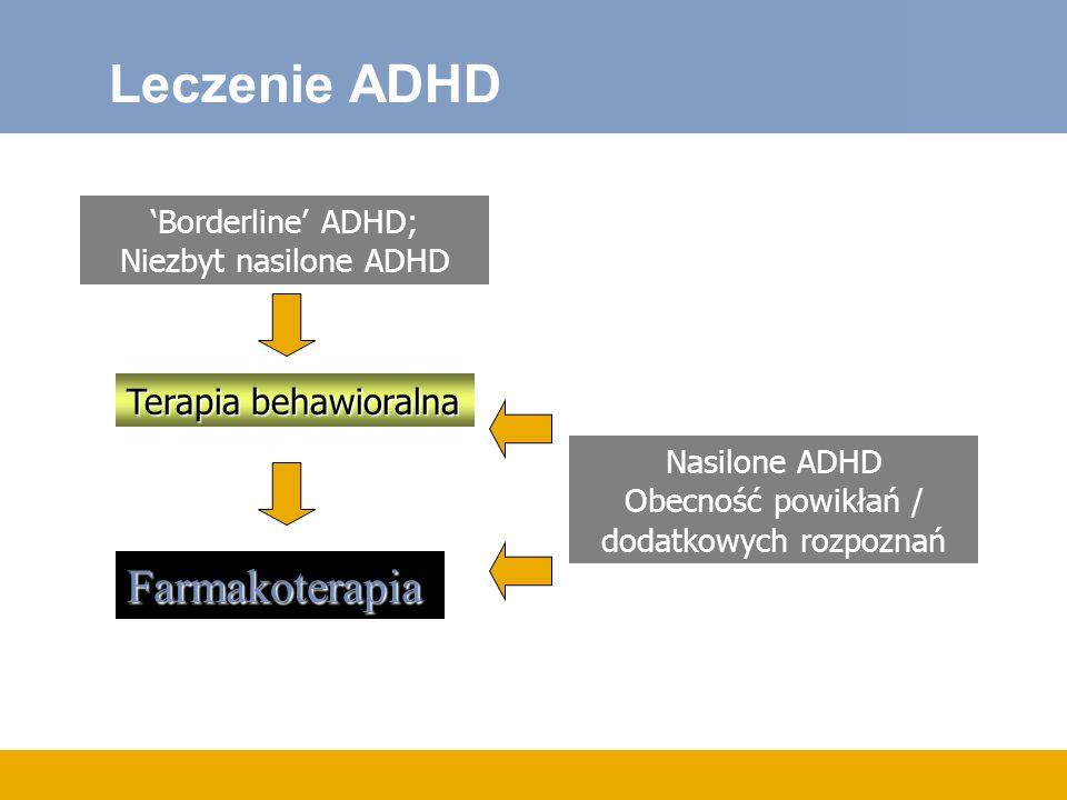 Leczenie ADHD Farmakoterapia Terapia behawioralna