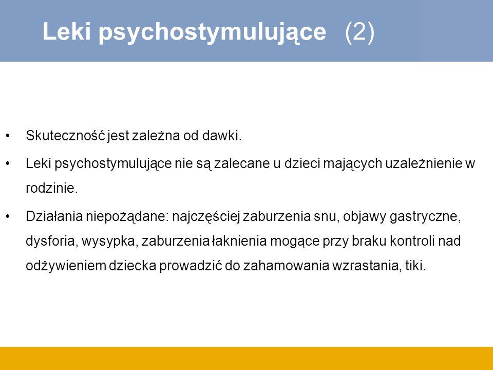 Leki psychostymulujące (2)