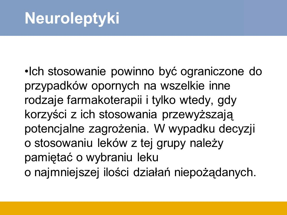 Neuroleptyki