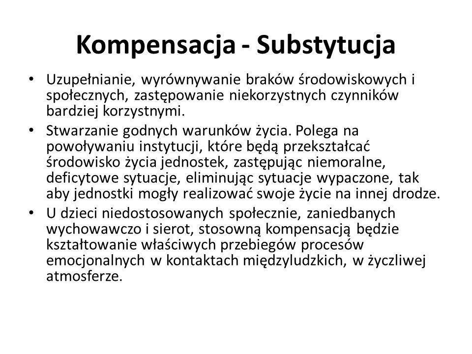 Kompensacja - Substytucja