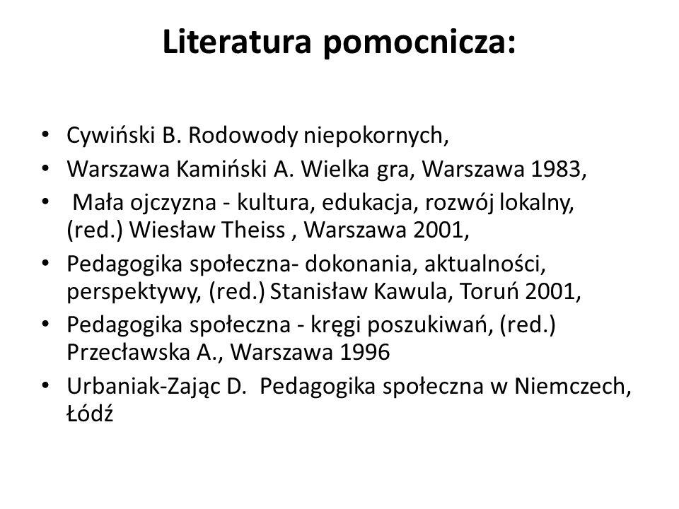 Literatura pomocnicza:
