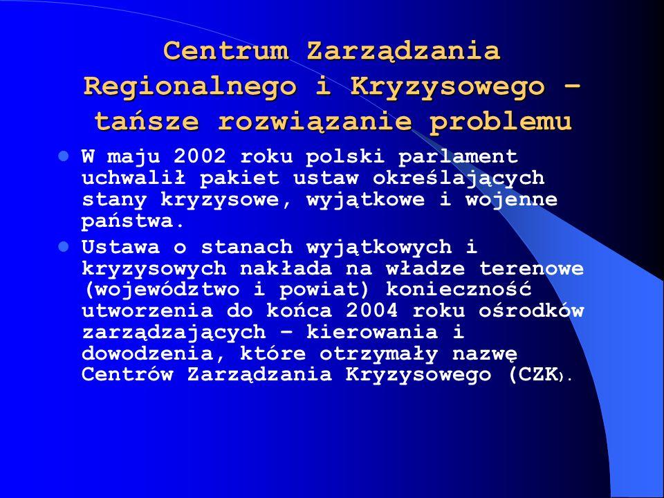 Centrum Zarządzania Regionalnego i Kryzysowego – tańsze rozwiązanie problemu