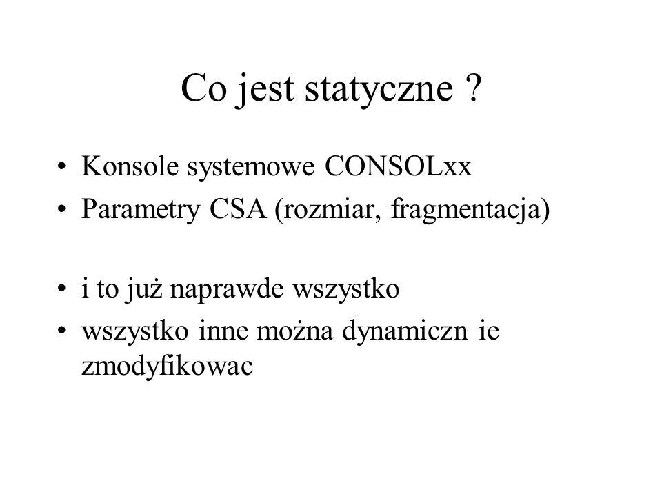 Co jest statyczne Konsole systemowe CONSOLxx