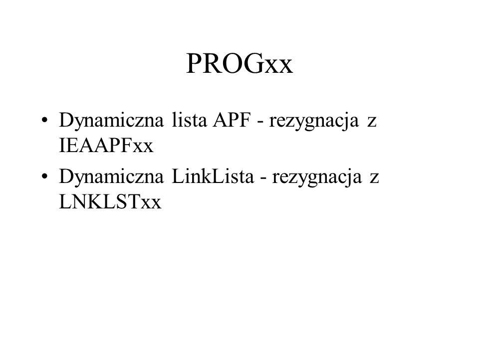 PROGxx Dynamiczna lista APF - rezygnacja z IEAAPFxx