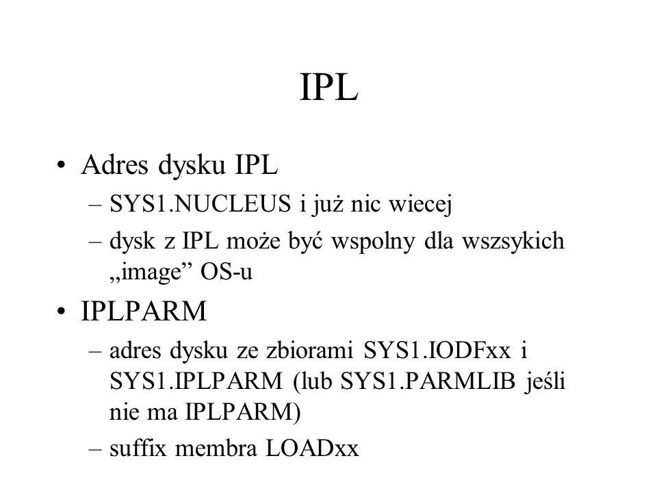 IPL Adres dysku IPL IPLPARM SYS1.NUCLEUS i już nic wiecej