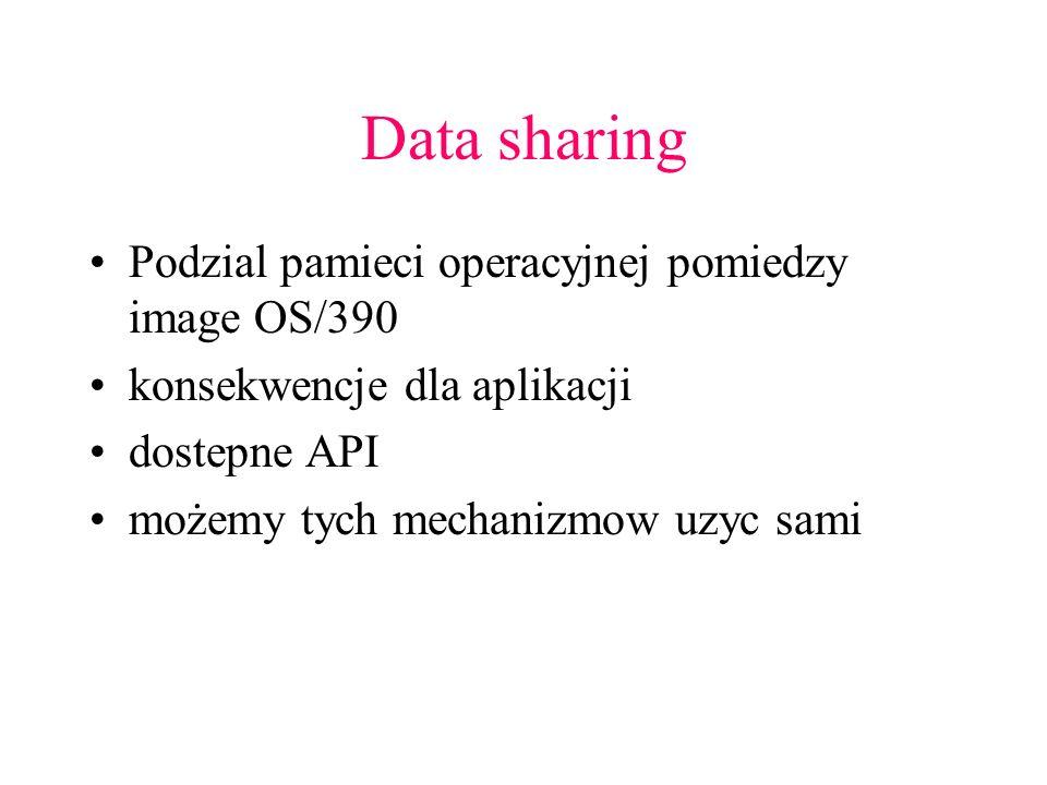 Data sharing Podzial pamieci operacyjnej pomiedzy image OS/390