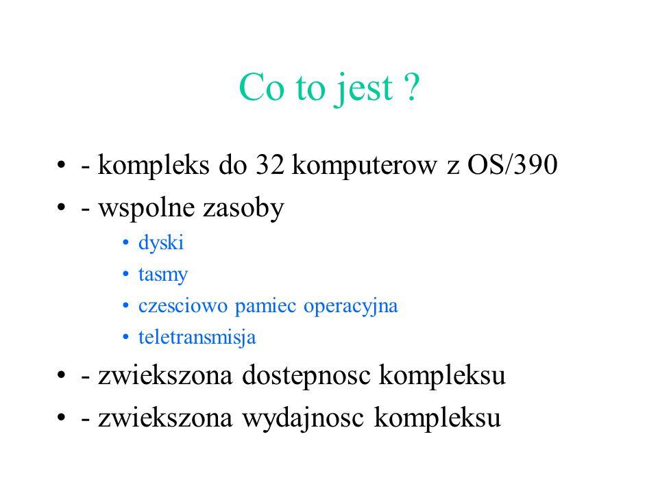 Co to jest - kompleks do 32 komputerow z OS/390 - wspolne zasoby