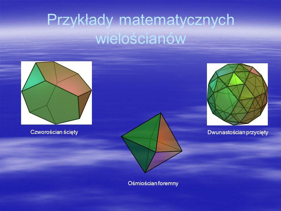 Przykłady matematycznych wielościanów