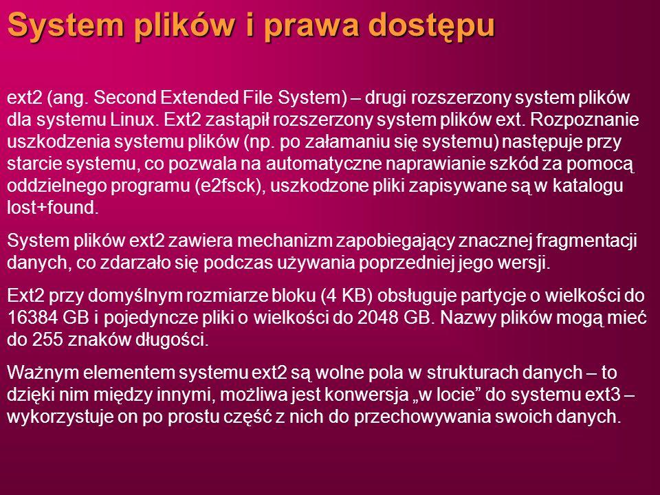 System plików i prawa dostępu