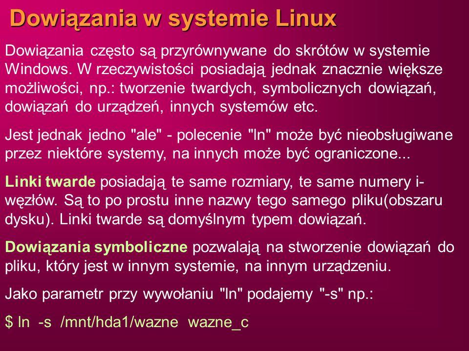 Dowiązania w systemie Linux