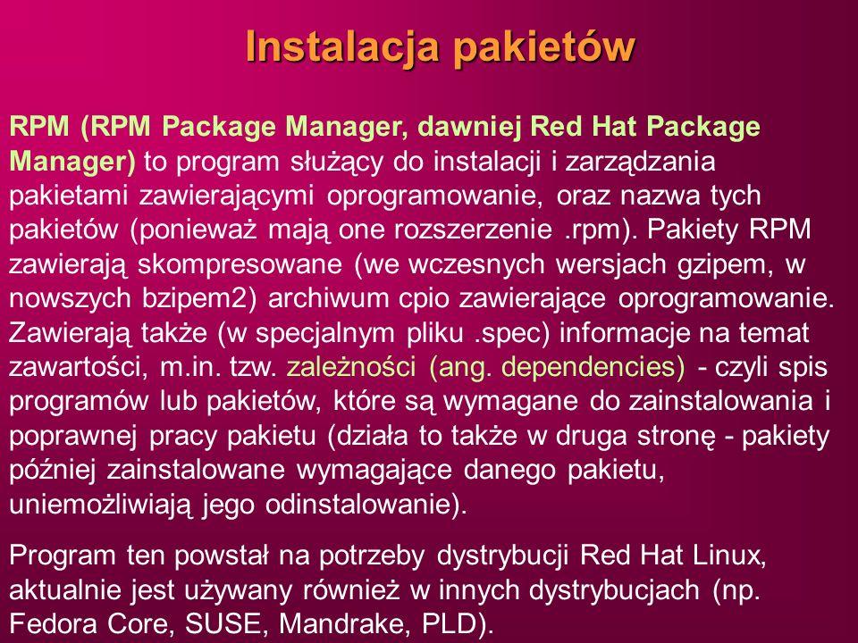 Instalacja pakietów