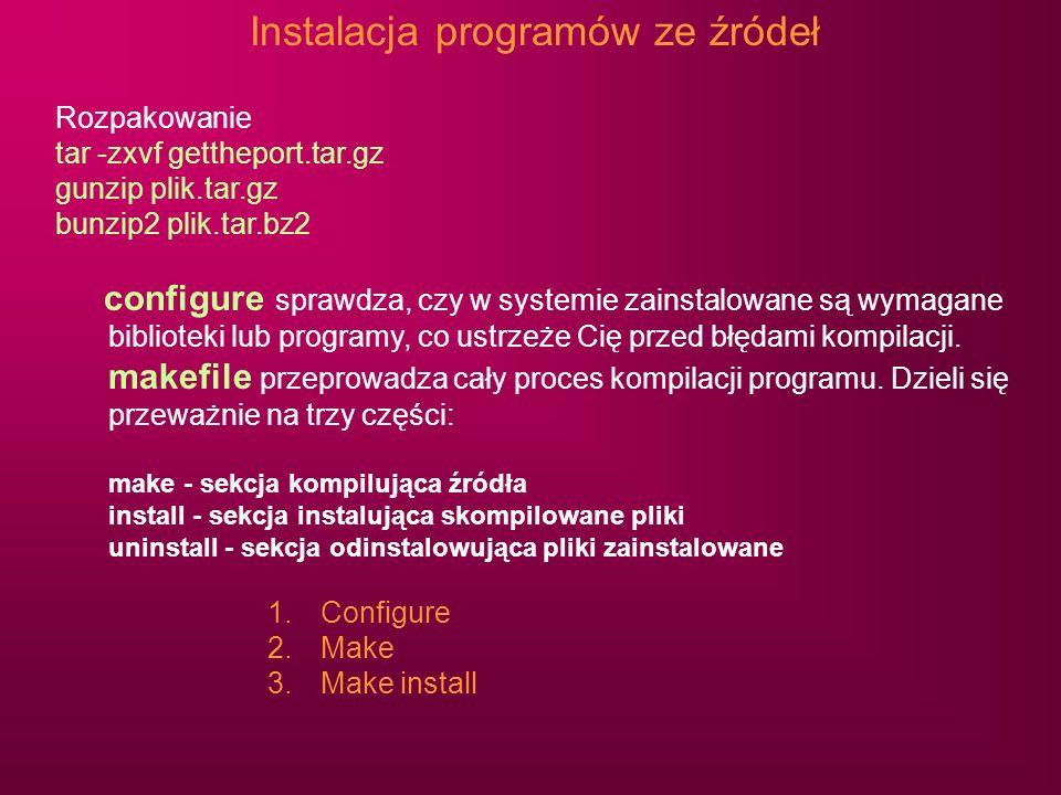 Instalacja programów ze źródeł