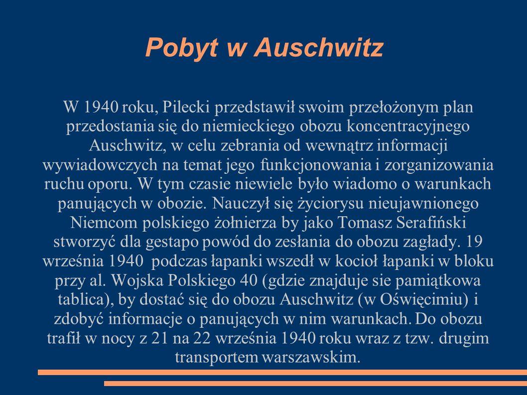 Pobyt w Auschwitz