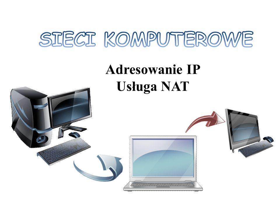 SIECI KOMPUTEROWE Adresowanie IP Usługa NAT