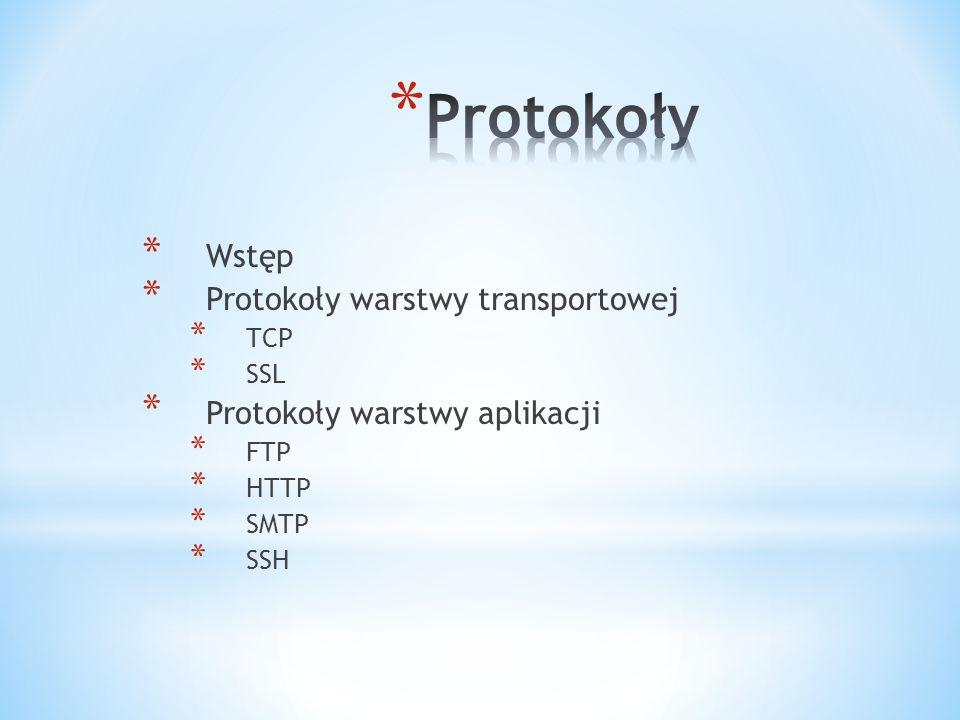 Protokoły Wstęp Protokoły warstwy transportowej