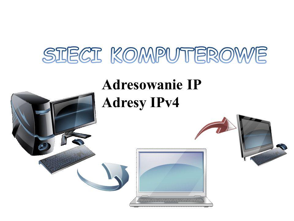 SIECI KOMPUTEROWE Adresowanie IP Adresy IPv4