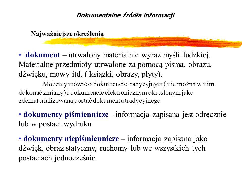 Dokumentalne źródła informacji