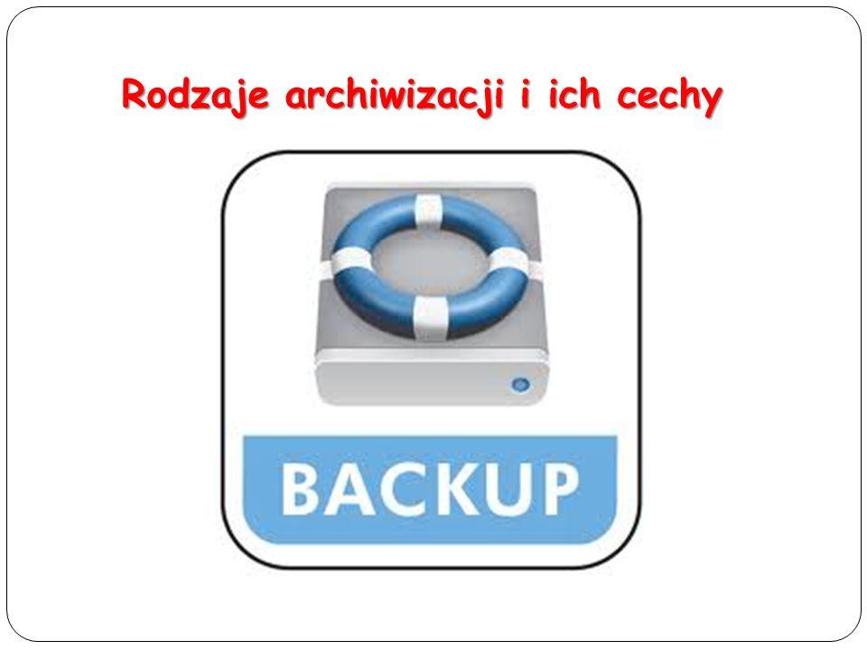 Rodzaje archiwizacji i ich cechy