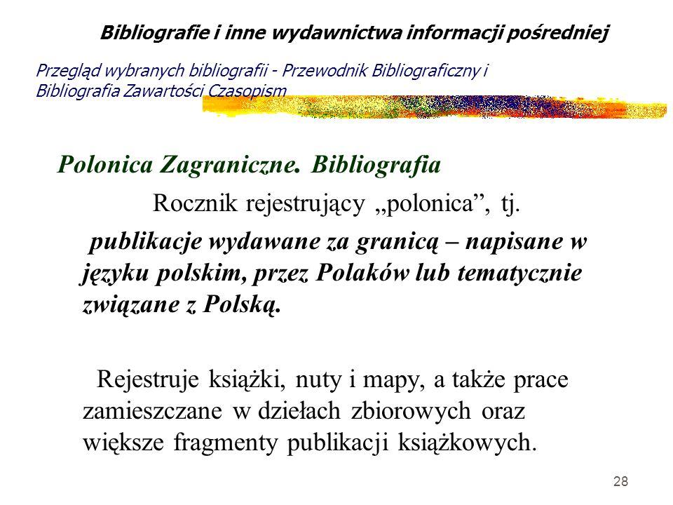 Polonica Zagraniczne. Bibliografia