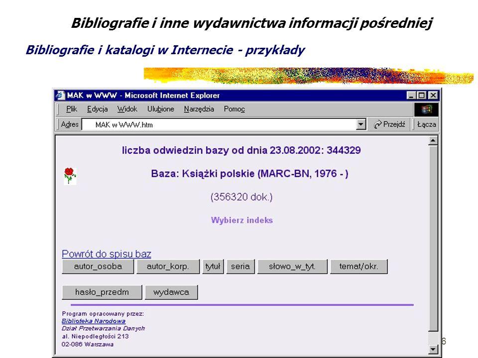 Bibliografie i inne wydawnictwa informacji pośredniej