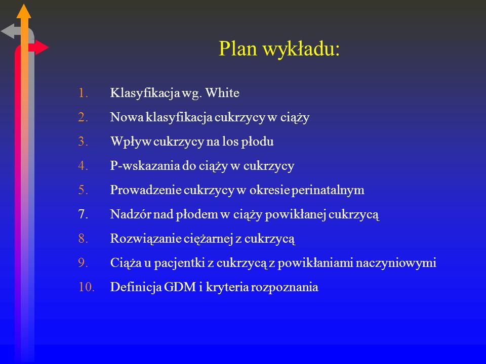 Plan wykładu: Klasyfikacja wg. White