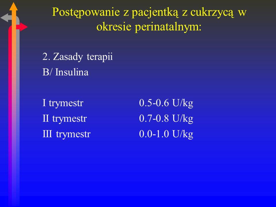 Postępowanie z pacjentką z cukrzycą w okresie perinatalnym: