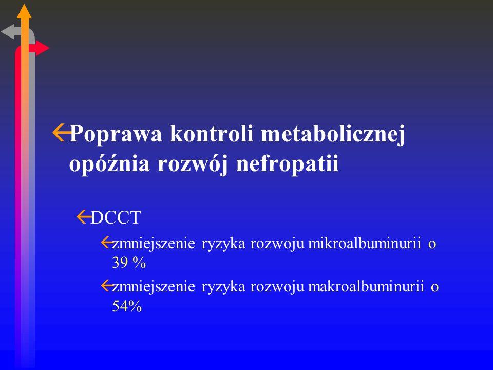 Poprawa kontroli metabolicznej opóźnia rozwój nefropatii