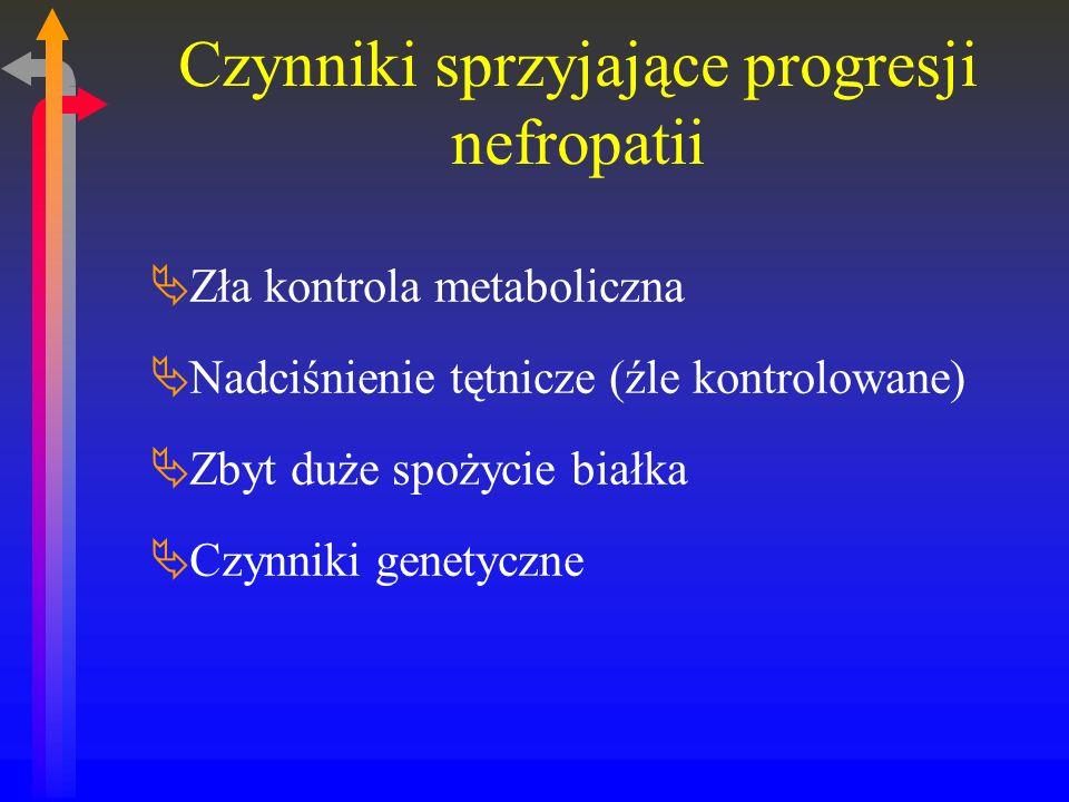 Czynniki sprzyjające progresji nefropatii