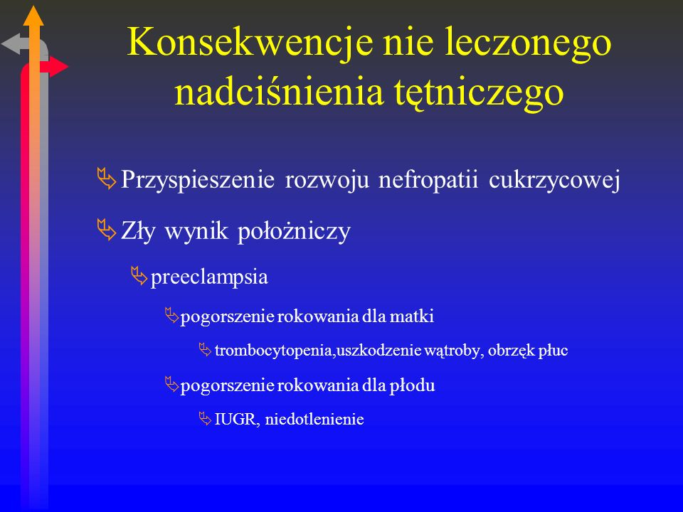 Konsekwencje nie leczonego nadciśnienia tętniczego